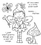 Garden Fairy Clear Woodware Stamp  (FRS351)